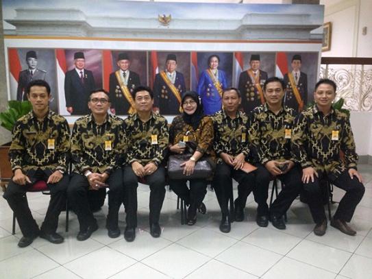 ombongan Politeknik Maritim Negeri Indonesia, Semarang, Jawa Tengah -- MTVN/Desi Angriani
